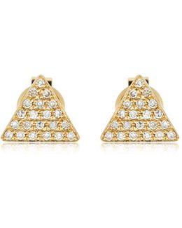 Triangle Diamond Stud Earrings