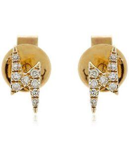 Mini Lightning Bolt Diamond Earrings