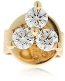 Trio Diamond Mono Stud Earring