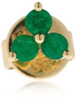 Trio Emerald Mono Stud Earring