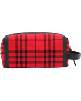 Runway Ss18 Heritage Check Canvas Case