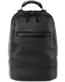 Croydon Leather Backpack In Black