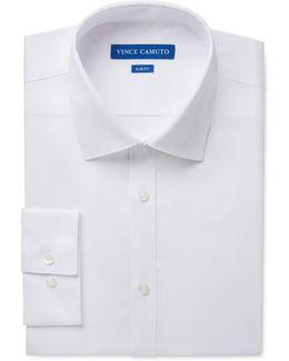 Dress Shirt, Slim-fit Light Blue Sateen Long-sleeved Shirt