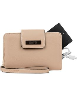 Never Let Go Tech Tab Wristlet With Charger