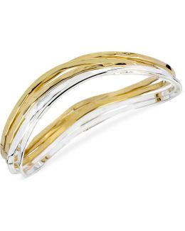 Two-tone Bangle Bracelet Set