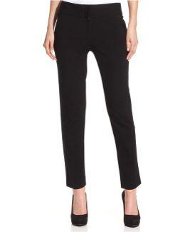 Pants, Straight-leg Ponte-knit Ankle