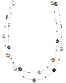 Tri-tone Layer Necklace