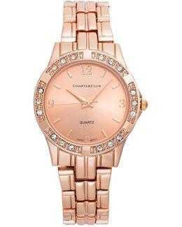 Women's Rose Gold-tone Bracelet Watch 30mm