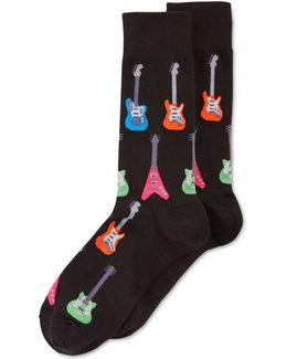 Electric Guitar Crew Socks