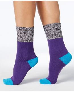 Colorblock Marled Boot Socks