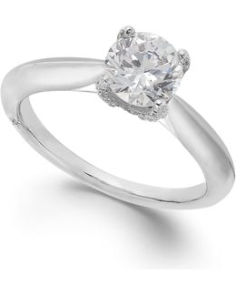 Certified Diamond Solitaire Engagement Ring In 18k White Gold (1 Ct. T.w.)