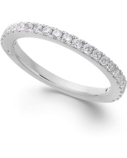 Diamond Wedding Band In 18k White Gold (3/8 Ct. T.w.)