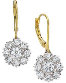 Diamond Two-tone Snowflake Drop Earrings In 18k Gold (1-1/6 Ct. T.w.)