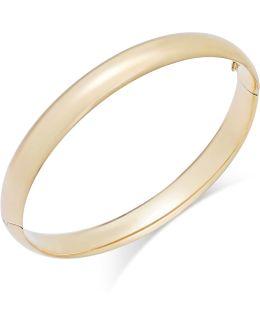 High Polish Bangle Bracelet In 14k Gold
