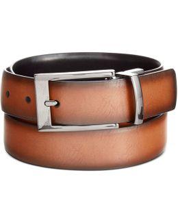 Feather-edge Reversible Dress Belt