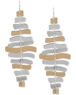 Two-tone Sculptural Chandelier Earrings