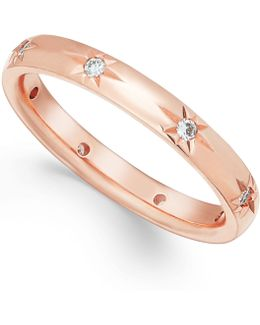 Diamond Band In 18k Rose Gold (1/8 Ct T.w.)