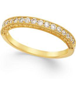 Diamond Milgrain Band In 14k Gold (1/4 Ct. T.w.)