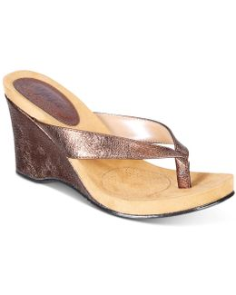 Style&co. Chicklet Wedge Thong Sandals, Only At Macy's