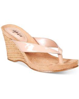Chicklet Wedge Sandals