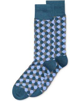 Hexagon Crew Socks