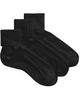 Aircushion Turncuff Socks - 3 Pack