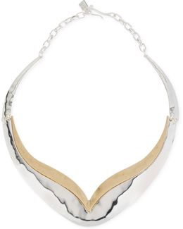 Two-tone Sculptured Necklace