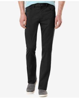 Slim-fit Solid Sateen Pants