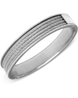 Silver-tone Cable Bangle Bracelet