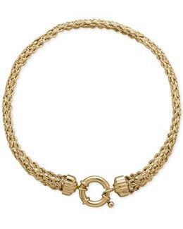Byzantine Rope Bracelet In 14k Gold