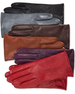 Cashmere Lined Leather Tech Gloves, Only At Macy's