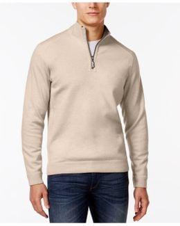 Flip Side Reversible Mock-collar Sweater