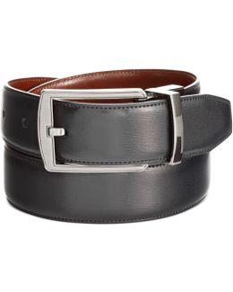 Reversible Feather Stitch-edge Belt