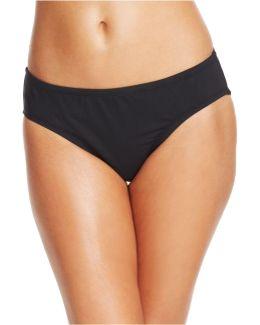 Solid Retro Scoop Bikini Bottom