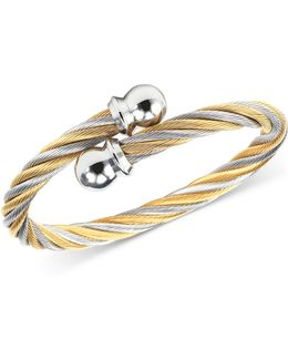 Women's Celtic Two-tone Pvd Stainless Steel Cable Bangle Bracelet 04-801-1216-0s