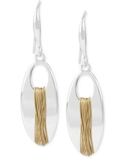 Two-tone Wire-wrapped Drop Earrings