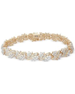 Diamond Cluster Bracelet (5 Ct. T.w.) In 10k Gold