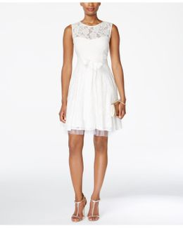 Lace Tulle Fit & Flare Dress