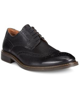 Men's Tyler Wing-tip Derby Oxfords, Only At Macy's