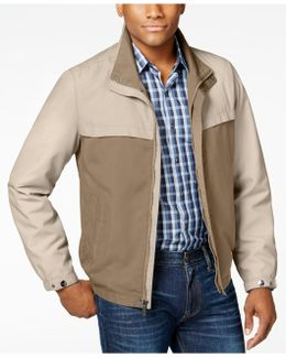 Men's Colorblocked Stand-collar Jacket