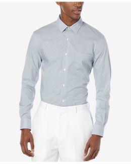 Men's Long Sleeve Dobby Square Shirt