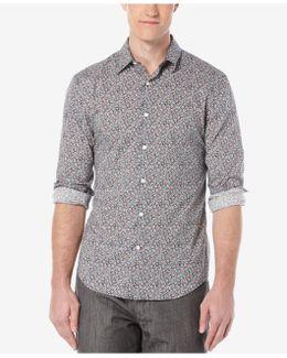 Men's Floral-print Long-sleeve Shirt