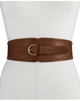 Whipstitch Tapered Stretch Belt