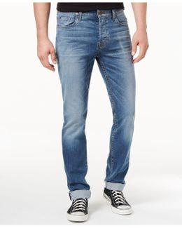 Men's Sartor Slouchy Skinny-fit Beach Slope Wash Jeans