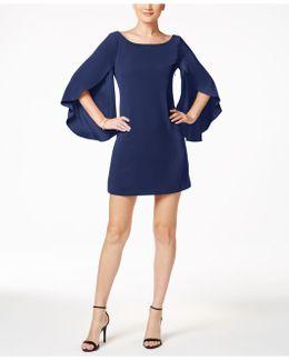 Bow Back Flutter-sleeve Embellished Dress
