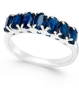 Sapphire Seven-stone Ring (2-3/4 Ct. T.w.) In Sterling Silver