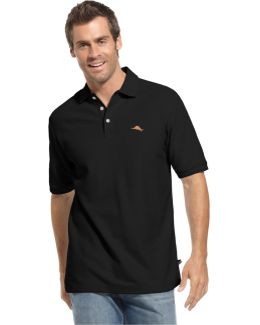 Big And Tall Solid Short-sleeve Polo