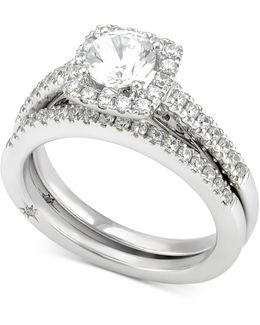 Certified Diamond Bridal Set (1-1/4 Ct. T.w.) In 18k White Gold