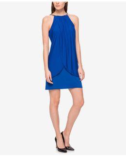Sleeveless Embellished Sheath Dress