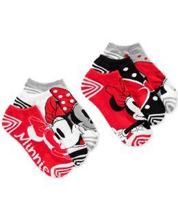 Women's Minnie Mouse Stripes No Show 6- Pk. Socks